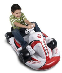 wii inflatable racing car