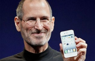 steve jobs white iphone