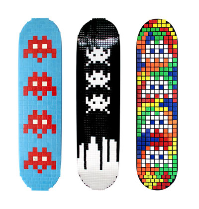 space invaders skateboards