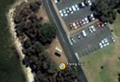 flying car google earth