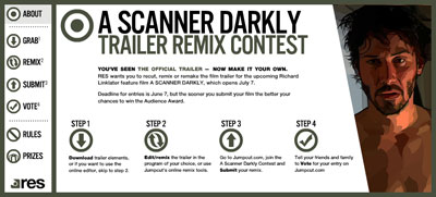 scanner darkly trailer contest