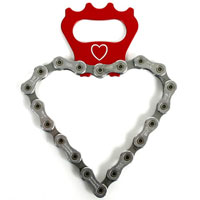 Heart Bike Chain Bottle Opener