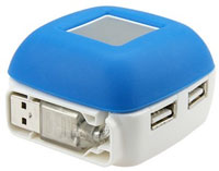 4-Port USB Hub With Mobile Phone Charger