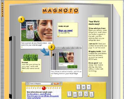 Magnoto, publish your pic with MMS
